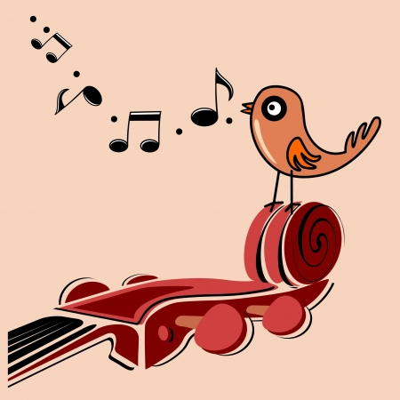 classic music illustration  Vector