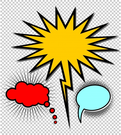Comic style speech bubbles collection   Stock Vector - 18869890