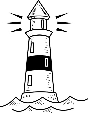 beacon: Lighthouse illustration  Illustration