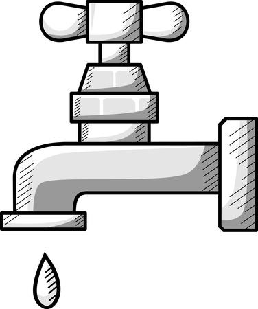 washbowl: Water tap icon - illustration