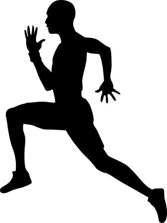 Imagen aislado de un Hombre Sprinter Ilustración de vector