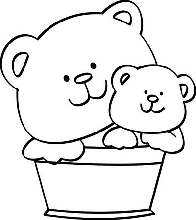 coloring cute Bear illustration