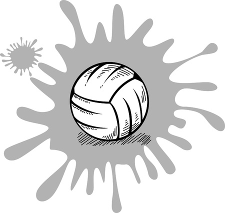 Silhouette volleyball Vector