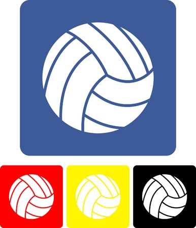 volley ball: Silhouette volleyball Illustration