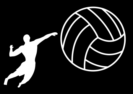 Male Silhouette volleyball