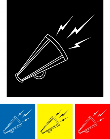 bullhorn: bullhorn symbol  Illustration