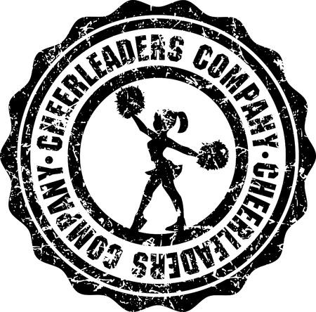 cheerleader: silhouette of cheerleader on white background