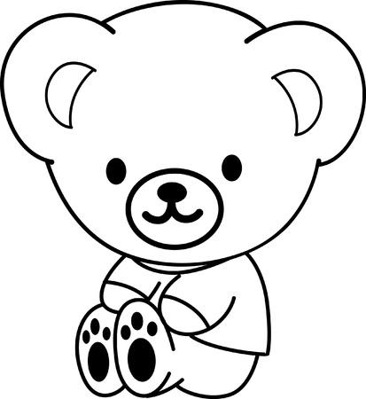 line drawings: Cute Teddy Bear