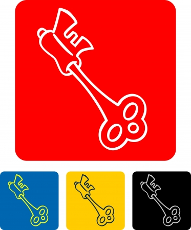 vector illustration of a key  Stock Vector - 19003724