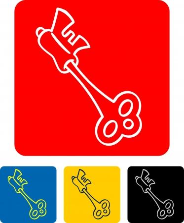vector illustration of a key Stock Vector - 19003724