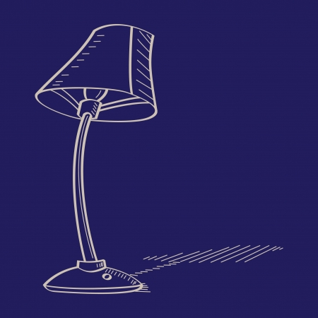 lamp shade vector illustration Vector