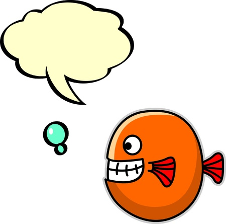 fish with bubble speech Vector
