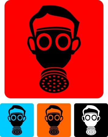 army gas mask: gas mask  Illustration