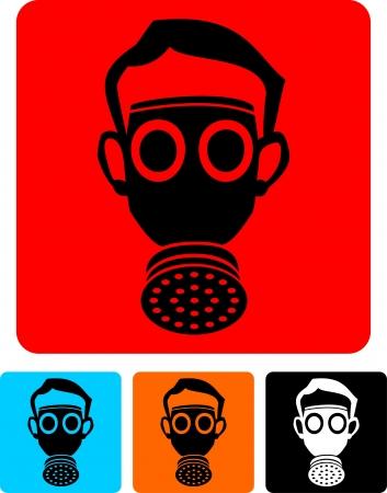 respirator: gas mask  Illustration