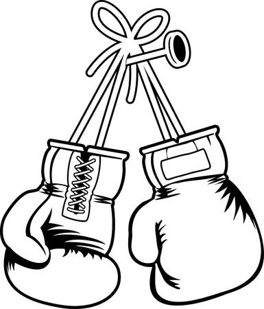 gant blanc: rouge vecteur gants de boxe