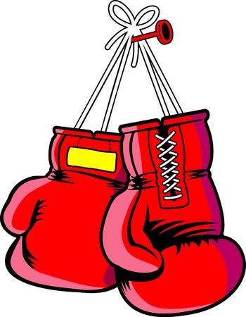 red vector boxing gloves