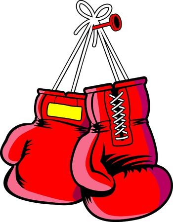 guantes boxeo: vector rojo guantes de boxeo