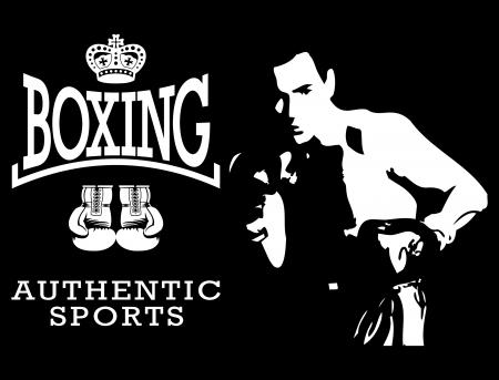 Box-Weltmeister Etiketten und-Ikonen Standard-Bild - 19003659