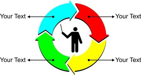 vector illustration of simple pie diagram