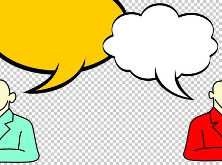 halfone: comic speech bubbles