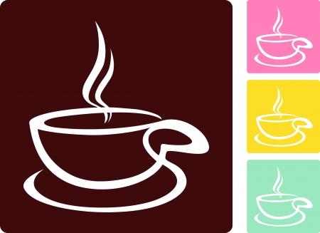 Coffee cup - Vector icon Illustration