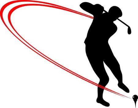 Golf Sport-Ikone Standard-Bild - 19003631