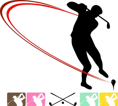 Golf  sports icon Vector