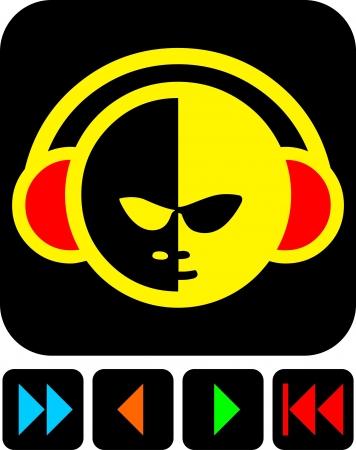 sign of digital music Vector