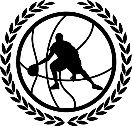 A silhouette of a basketball  Vector