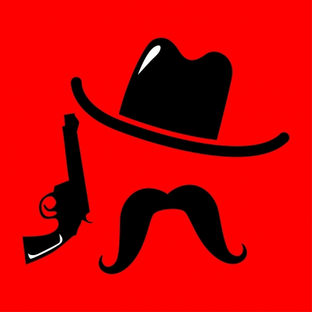 cowboy icon vector illustration Vector