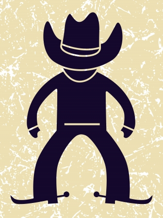 cowboy in action  vector illustration Illustration