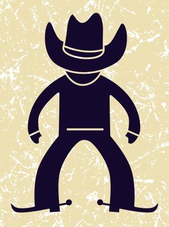 cowboy in action  vector illustration Illustration