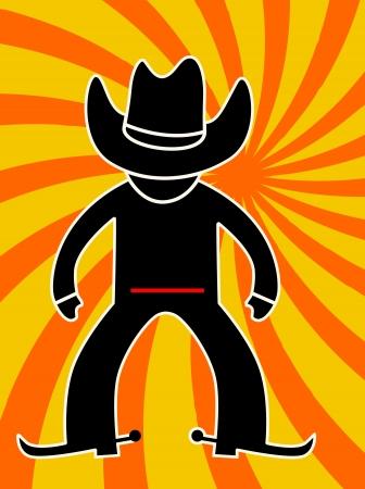 rifleman:  cowboy in action  vector illustration Illustration