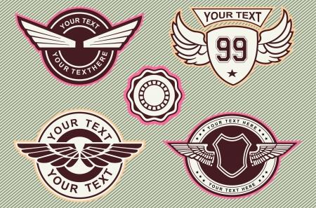 wing logo cslassic vintage
