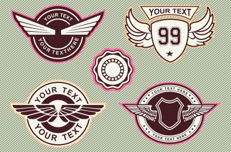 wing logo cslassic vintage Stock Vector - 19003754