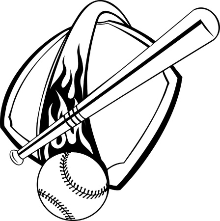 baseball design elements Vector