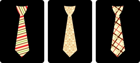 Tie set, vector illustration  Vector