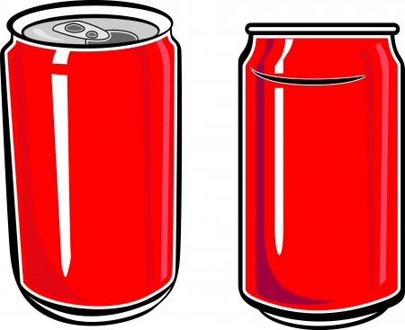 carbonated: red can vector