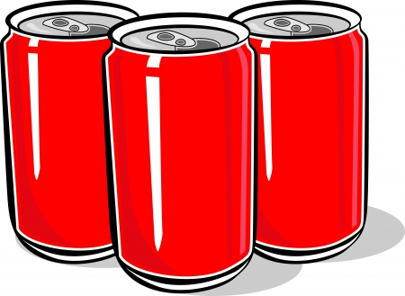 beer can: red can vector