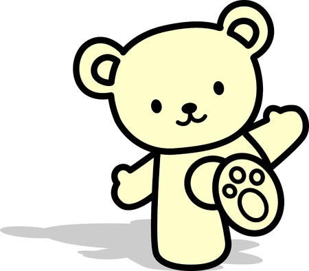 happy teddy bear Vector