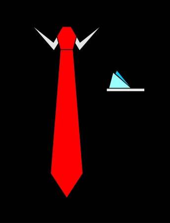 red tie: Tie vector illustration
