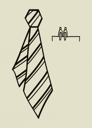 ironed: Tie vector illustration