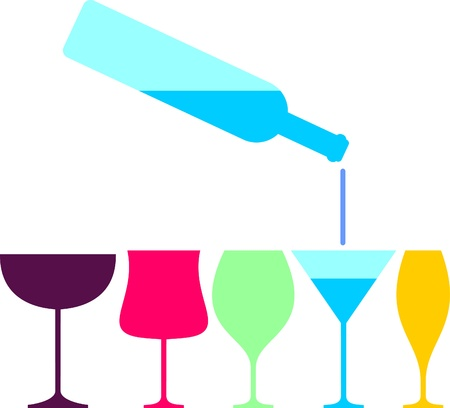 Wine glass pab bar design  vector illustration Vector