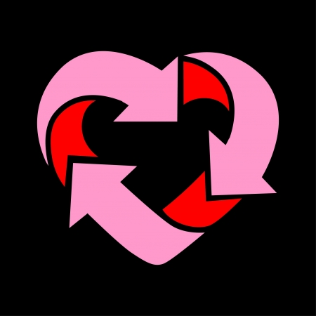 recycle with love Vector