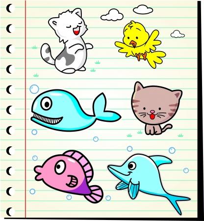 cartoon animals vector illustration Stock Vector - 19051343