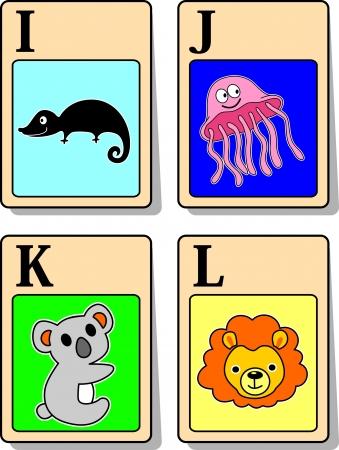 alphabet animaux: Une illustration d'animaux de l'alphabet de I � L
