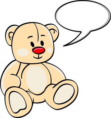 cute Bear with bubble speech Illustration