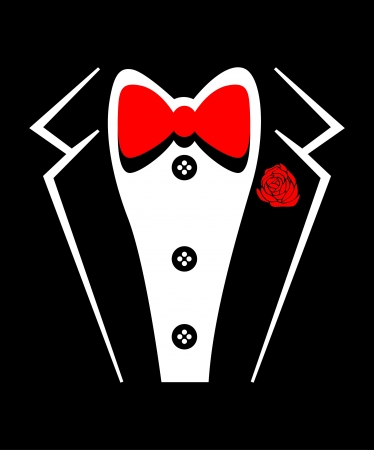 Vector tuxedo with bow tie