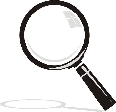 vector  Magnifying glass on background  Stock Vector - 19095902