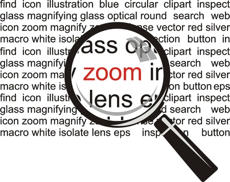 Zoom  Magnifying glass on background  Stock Vector - 19096549